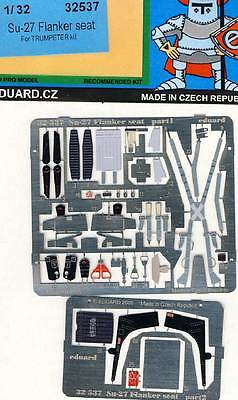 eduard Su-27 Su-30 Flanker seatbelts Seat belts Etched parts Edging kit 1:32