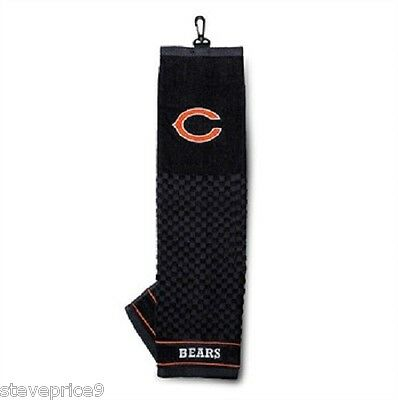 Official Nfl Chicago Bears Plegado Triple Toalla Para Golf