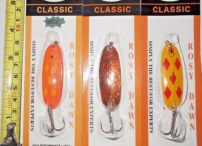 3 Copy Williams Wabler W40(Rosydawn)Send Randome Color Trolling/ice Fishing Lure