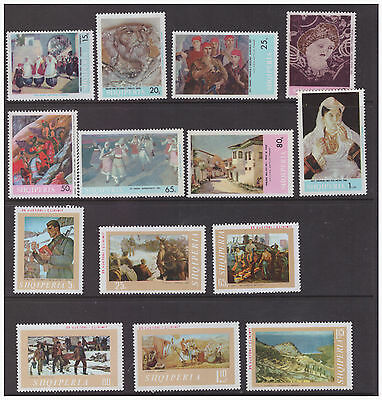 Albania  Art collection 1967-1990 mint MNH sets and sheets stamps   7 scans