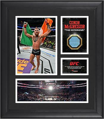 Conor McGregor UFC Framed 15x17 Collage with Piece of Match-Used Canvas