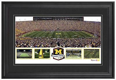 Michigan Stadium Michigan Wolverines Framed Panoramic Collage-LE of 500