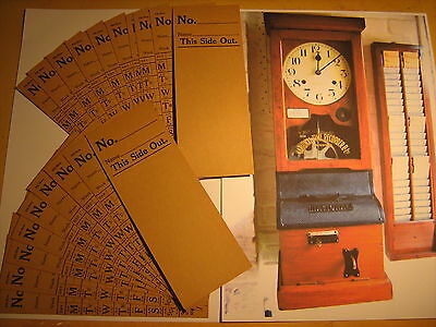 Vintage National Time Recorder Clocking In Cards X 20 New Old Stock