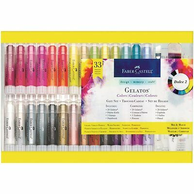 Faber Castell Gelatos Colour Gift Set 33pc Set Dolce 2 **NOW IN STOCK**
