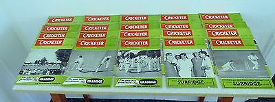 Job Lot The Cricketer & Playfair Magazines Annuals 1950-70 x 33 Used Good Cond