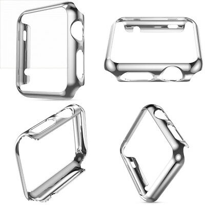 SILVER ALUMINUM Cover Protector Case Bumper Skin For iWatch 42MM APPLE WATCH 1