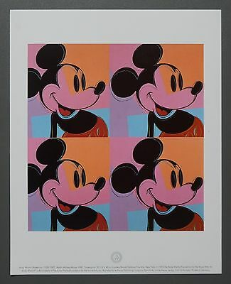 Andy Warhol Foundation Limited Ed. Offset Lithography 24x30cm Mickey Mouse 1981