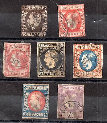 Romania 1866-1871 imperf used collection to 50 bani (some faults) good CV WS2677