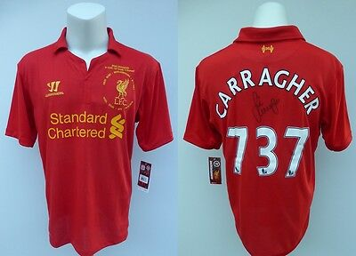 2012-13 Liverpool Ltd Ed Home Shirt Signed by Jamie Carragher - 737 Games (9371)