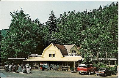 Macbeth's Cabins Groceries and Gas in Cooksburg PA Postcard Gas Pumps