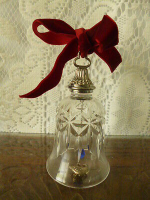 Waterford crystal glass bell Goose geese ornament xmas Christmas