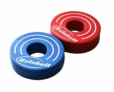Bolaball Replacement Washers for Washer Toss Game Blue/Red Blue and Red