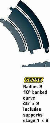 Hornby Scalextric C8296 Track Radius-45 Degrees Banked Curve Standard Packaging