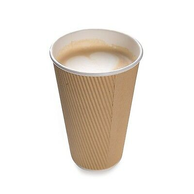 Restaurantware 500-Count Disposable Ripple Wall Coffee and Tea Cup 16-Ounce K...
