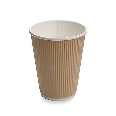 Restaurantware 500-Count Disposable Ripple Wall Coffee and Tea Cup 12-Ounce K...