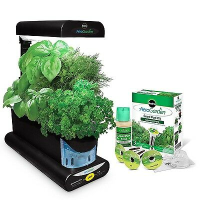 Miracle-Gro AeroGarden Sprout with Gourmet Herb Seed Pod Kit Black
