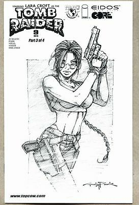 Tomb Raider The Series #9-2000 vf Andy Park Sketch variant cover
