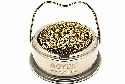 Aoyue Soldering Iron Tip Cleaner with Brass Wire Sponge No Water Needed