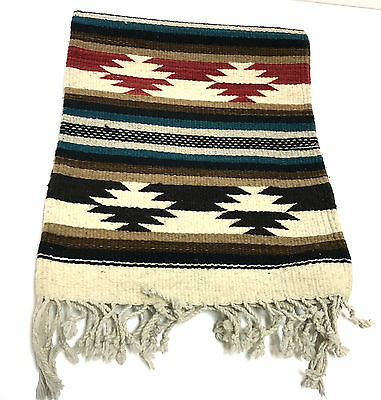 """Old Pawn Southwest 81"""" x 15.5"""" Long Runner Handmade Woven Wool Area Rug"""