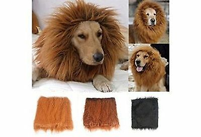 New Pet Costume Lion Mane Wig For Dog Cat Halloween Cloth Festival Fancy Dres...