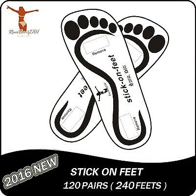 Economy120 Pairs(240feets Total) Black Sticky Feet Disposable on Sunless Tan