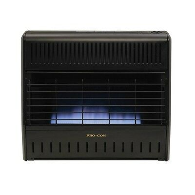 Procom 30,000 BTU Blue Flame Natural or Propane Gas Garage Wall Heater