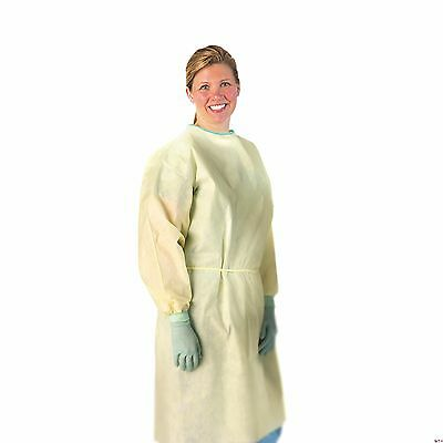 Medline NONLV200XXXL AAMI Level 2 Isolation Gowns Medium Weight Multi-Ply Lat...