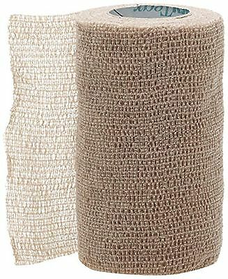Medline MDS086004 Co-Flex Bandages Latex Non Sterile 4-Inch X 5 Yard Tan (Pac...