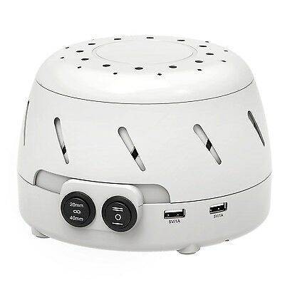 VicTsing White Noise Fan Sound Machine with USB All-Natural Sleep Easy Sound ...