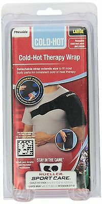 Mueller Hot/Cold Therapy Wrap Ice Heat Pack LG 330122 Black Large