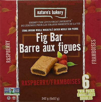 Nature's Bakery Fig Bars (Pack of 6) Whole Wheat Raspberry 340.2g