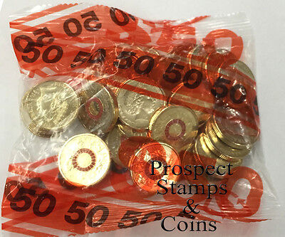 2015 Australian $2 ANZAC Red Coloured Decimal coins in security bag - 25 coins