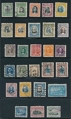 1901 -1911 Costa Rica EARLY ISSUES AS LISTED, CAT VALUE $35