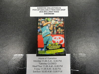 2016/17 Cricket Tap N Play Memorable Moments Card Mm-14