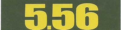 "Vinyl 1/2 Height Ammo Can Magnet label ""5.56"""