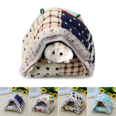 Cute Small Animal Pet Hamster Rat Lovely Zipper Warm House Bed Cage Nest Mouse