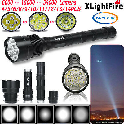 Super Bright Zoomable CREE XML T6 5Modes 18650 Rechargeable LED Flashlight Torch