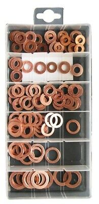 6x Assorted copper washers x 100 PXP124 Pearl Genuine Quality NEW MULTIBUY SAVER