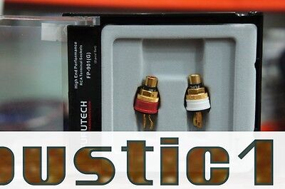 4ps Furutech FP-901(G) Copper Gold Plated RCA Socket phono hifi chassis AMP