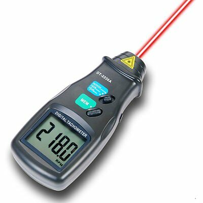 2in1 LASER Photo Non/Contact Tachometer 99999 RPM Meter Tester Measurer