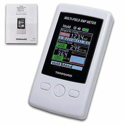 EMF Meter Monitor Gauss 3-axis Magnetic Electric RF Field Strength Taiwan