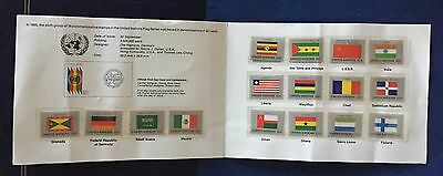 "Postal Administration New York United Nations 1985 ""the Flag Series"" Souvenir Fo"