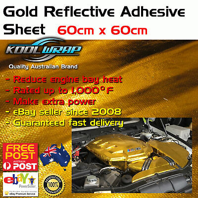 Gold Foil Insulating Heat Protection Sheild Wrap Reflective Adhesive 60cm x 60cm