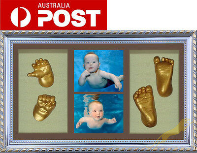 DIY Baby Casting kit 100% Safe 3D Keepsake & Shadowbox photo frame