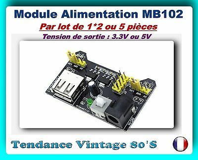*** Lot De 1*2 Ou 5 Modules Alimentation Mb102 - 3.3V/5V / Arduino ***