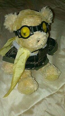Lovely Condition THE TEDDY BEAR COLLECTION bear in flying outfit 20cm