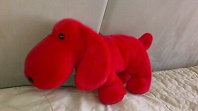 Lovely Condition TY BEANIE BUDDIES red velvet dog soft toy 36cm