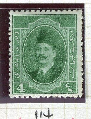 EGYPT;  1923-4 early King Faud issue 4m. fine Mint hinged value,