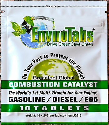 EnviroTabs - Saves fuel and protects engine! 1 pack (10 big tablets)