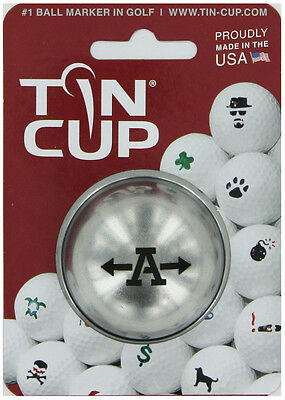 Tin Cup. Golf Ball Marker System. Alpha Players Letter A